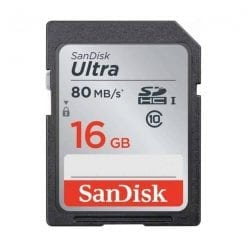 SanDisk 16GB Ultra UHS-I SDHC 80 MB/s Memory Card (Class 10)