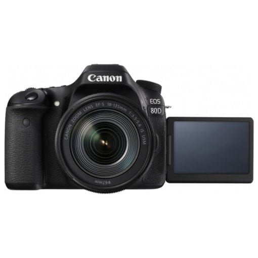 Canon EOS 80D Video Creator Kit with EF-S 18-135mm 1:3.5-5.6 IS USM Lens, Black (1263C103)