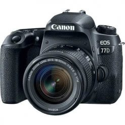 New Canon EOS 77D 24.2 MP Digital SLR Camera   18-55mm Lens with Built-In Wi-Fi