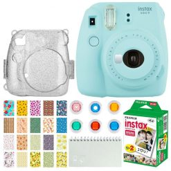 Fujifilm Instax Mini 9 Instant Camera (Ice Blue) + Fujifilm Instax Accessories
