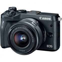 Canon EOS M6 EF-M 15-45mm f/3.5-6.3 IS STM Lens Kit (Black)