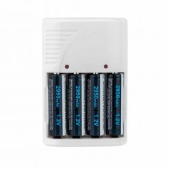 4 AA Batteries & White Charger