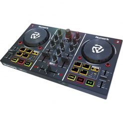Numark Party Mix | Starter DJ Controller with Built-In Sound Card & Light Show, and Serato Software Download