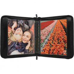 Itoya 18x 24 Art Size Zipper Binder, Black - Includes 5 Polyglass Pocket Pages ZB-1824BK