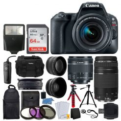 Canon EOS Rebel SL2 DSLR Camera + EF-S 18-55mm IS STM Lens - Full Bundle