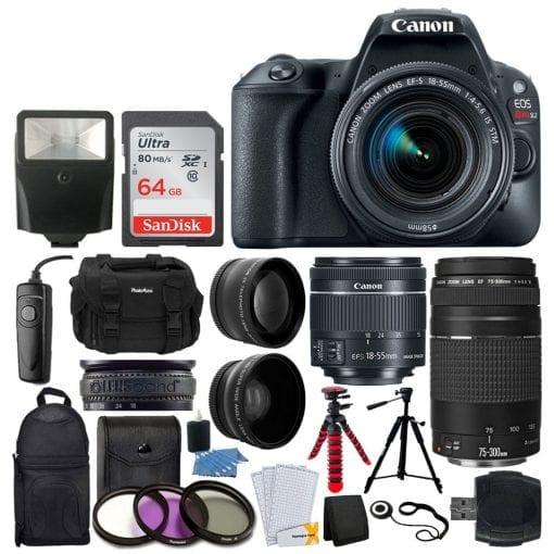 Canon EOS Rebel SL2 DSLR Camera + EF-S 18-55mm IS STM Lens – Full Bundle