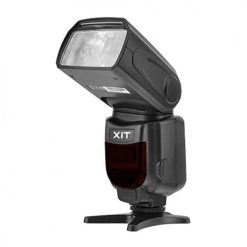 Xit XTDF260C Elite Series Digital SLR Auto-Focus Power Zoom Flash with LCD Display, Bounce/Swivel for Canon DSLR (Black)