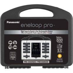 Panasonic K-KJ17KHC82A eneloop pro NEW High Capacity Power Pack, 8AA, 2AAA, with Advanced Individual Battery Charger