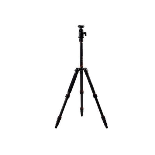"FotoPro X-Go 5-Section Carbon Fiber Tripod with Built-In Monopod, FPH-42Q Ball Head, 17 lbs Capacity, 56"" Maximum Height"