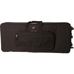 Gator GK61 Rigid EPS Foam Lightweight Case w/ Wheels for 61-Note Keyboards