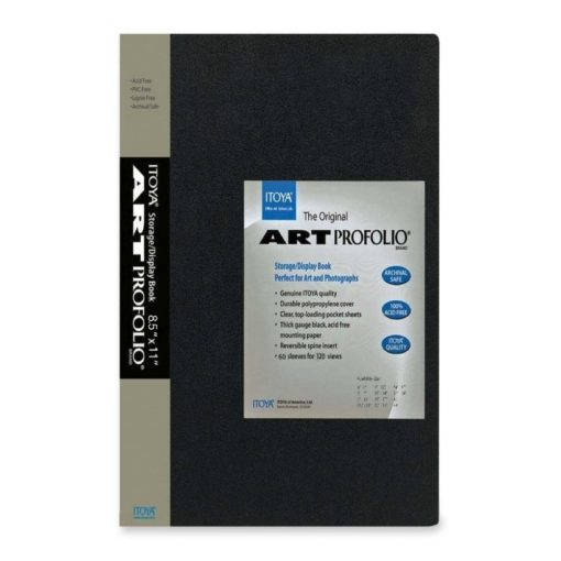 Itoya Archival Art Profolio Presentation Book – 60 – 8.5 x 11 Inches Pocket Pages, 120 Views (IA-12-8-60)