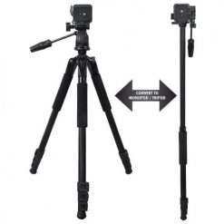 Xit XT72TRMPRO 72-Inch Full Size Convertible Tripod/Monopod with Quick Release (Black)