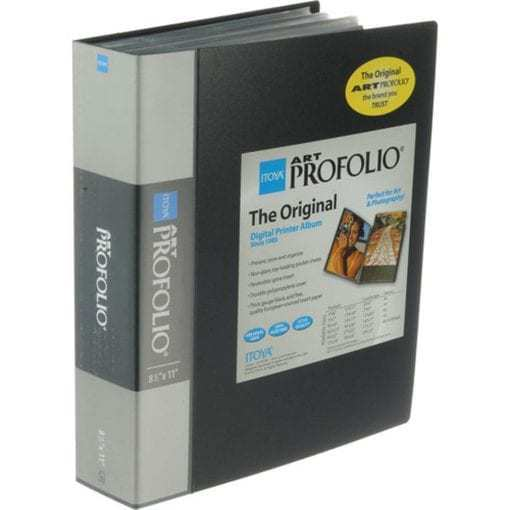 Itoya Art Profolio Storage/Display Book 8 1/2 in x 11 in.- 90 pages IA-12-8-90