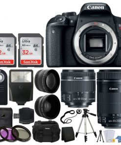 Canon EOS Rebel T7i DSLR Camera with EF-S 18-55mm IS STM Lens & EF-S 55-250mm IS STM Lens Kit