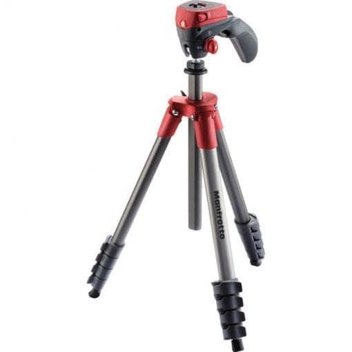 Manfrotto MKCOMPACTACN-RD Compact Action Tripod (Red)