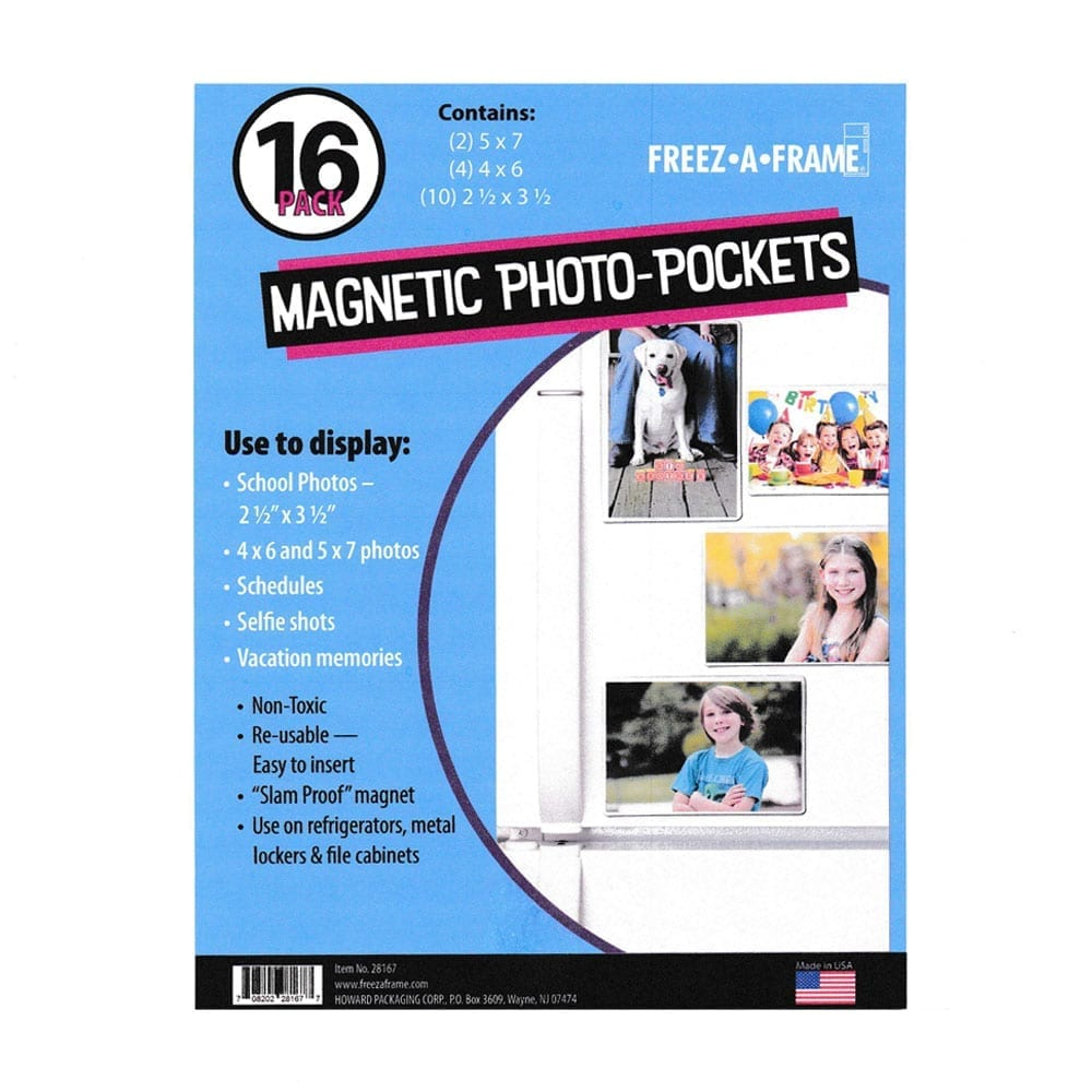 Photo4less Freez A Frame Clear Magnetic Pockets 16 Pack 2 5 X 7