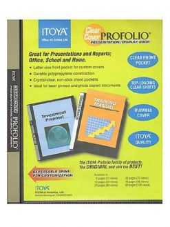 Itoya Clear Cover Profolio Presentation Books 60 pages (120 views) CC-60