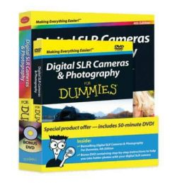 Digital SLR Cameras and Photography For Dummies Book   DVD Bundle
