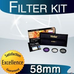Vivitar 58mm 3-Piece Multi Coated Filter Kit UV, CP & FLD Filter