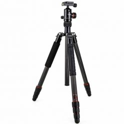 "FotoPro X-Go Plus 4-Section Carbon Fiber Tripod with Built-In Monopod, FPH-52Q Ball Head, 17 lbs Capacity, 62"" Maximum Height"