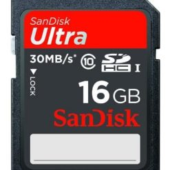 SanDisk Ultra 16GB SDHC Class 10/UHS-1 Flash Memory Card Speed Up To 30MB/s- SDSDU-016G-U46 (Label May Change) [Old Version]