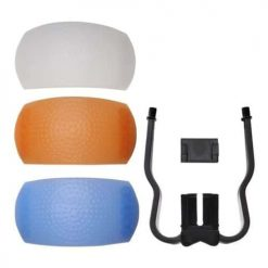 3 Colored Flash Diffusers for DSLR Pop-UP Flashes Soft Light Covers