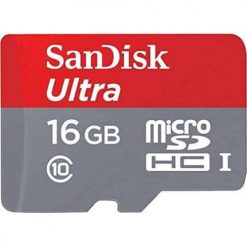 Sandisk Ultra Flash memory card 16GB MicroSDHC UHS-I (SDSQUNC-016G-AN6IA)