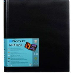 Itoya RB1114 Multi-Ring Binder, Refillable, 11 inch x 14 inch , Black RB-11-14