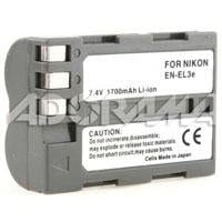 Power2000 EN-EL3E Replacement Lithium-Ion Rechargeable Battery 7.4v 1700mAh for Select Nikon Digital Cameras
