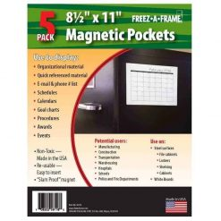 Freez A Frame Clear Magnetic Pockets 5 Pack (8.5 x 11)