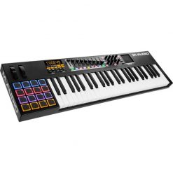 M-Audio Code 49 Black | 49-Key USB MIDI Keyboard Controller with X/Y Touch Pad (16 Drum Pads / 9 Faders / 8 Encoders)
