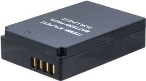 Xit LPE12 Ultra High Capacity Lithium Ion Battery for Canon EOS-M Mirrorless 1300mAh XTLPE12