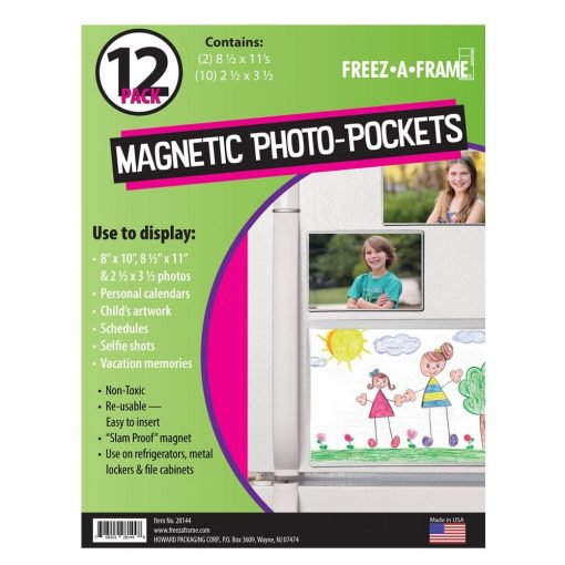 Photo4less Freez A Frame Clear Magnetic Pockets 12 Pack 2 85 X