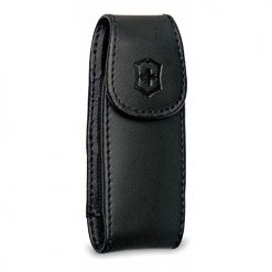 Victorinox Large Pocket Knife Clip Pouch, Leather Black