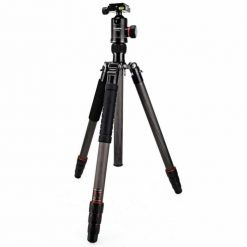 """FotoPro X-Go Max 4-Section Carbon Fiber Tripod with Built-In Monopod, FPH-62Q Ball Head, 26 lbs Capacity, 67"""" Maximum Height"""