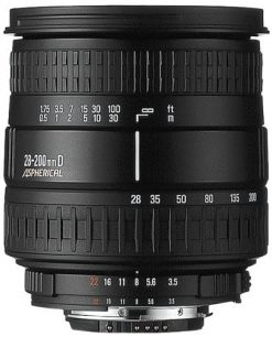 Sigma 28-200mm F3.5-5.6 Aspherical Hyperzoom Macro Lens for Sony Alpha and Konica Minolta SLR Cameras
