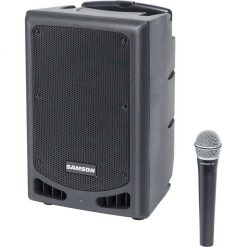 """Samson XP108W-06 Portable PA - 8"""" 200 watts with Bluetooth, Wireless HH mic (rechargeable battery)192.6 MHz"""
