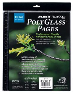 Itoya PolyGlass refills for poster size multi-ring 18x24 albums - 18x24