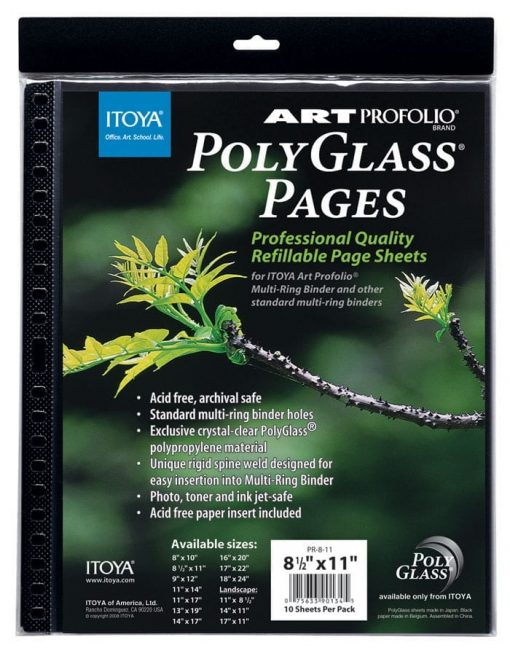 Itoya PolyGlass refills for poster size multi-ring 18×24 albums – 18×24