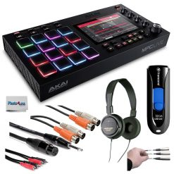 Akai Professional MPC Live Standalone MPC + Audio-Technica Stereo Headphones + Transcend 32GB JetFlash USB + Cables + Peel-Off Labels + Photo4less Cleaning Cloth – Deluxe Music Bundle!