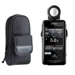 Sekonic LiteMaster Pro L-478DR-U Light Meter for PocketWizard System With Exclusive USA Radio Frequency And Exclusive 3-Year Warranty + Sekonic Deluxe Case for L-478-series meters
