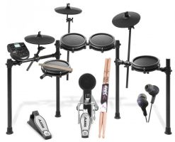 Alesis Nitro Mesh Eight Piece Electronic Drum Kit  + Ear Headphone + Drumsticks