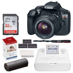 Canon EOS Rebel DSLR T6 Camera Body + Canon EF-S 18-55mm f/3.5-5.6 IS II Lens + Canon EOS Shoulder Bag 100ES (Black) + SanDisk Ultra SDXC 64GB 80MB/S C10 Flash Memory Card + Deluxe Canon Bundle