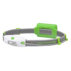 Led Lenser Mens Womens Running Sport Neo Battery Powered Headlight Lamp, 90 Lumens Light 16x9 Wide Beam, Perfect for Running, Walking, Camping, Reading, Hiking with a Photo4Less Clean Cloth (Green)