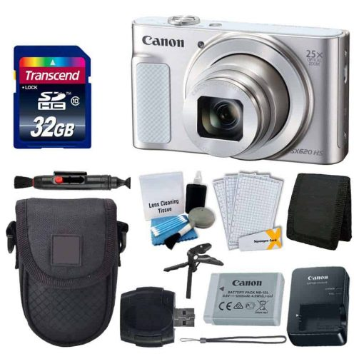 Canon PowerShot SX620 HS Digital Camera + Deluxe Accessory Kit