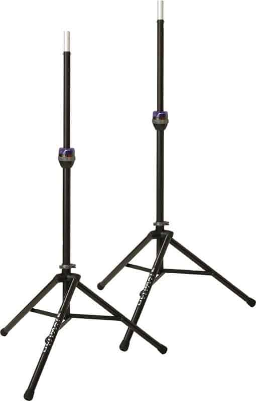 Ultimate Support TS-90B Telelock Tripod Speaker Stand Pair