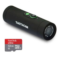 TACTACAM 4.0 With Flat Black Stabilizer + SanDisk Ultra 32GB microSDHC UHS-I Card with Adapter - Valued Accessory Bundle