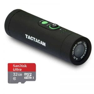 TACTACAM 4.0 With Flat Black Stabilizer + Ultra 32GB microSDHC UHS-I Card with Adapter - Valued Accessory Bundle