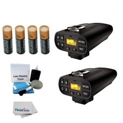 PocketWizard Plus IV Transceivers (Black Set Of 2) With Accessory Pack + Cleaning Cloth