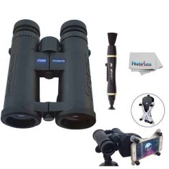Snypex Profinder HD 8 x 32 Sport Optic Binocular for Hiking, Biking, Camping, Travel, Safari + Snypex X-Wing SPA1 Universal Smartphone Adapter for Binoculars + Lens Pen + Photo4Less Cleaning Cloth